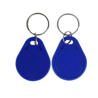 Free shipping 13.56mhz ABS blue rfid keyfob smart chip UID changeable tag 50pieces/ lot