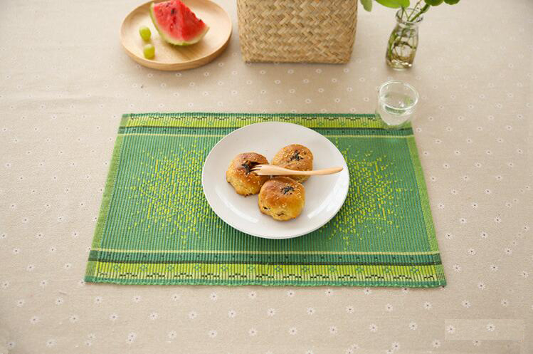 Ecofriendly Cotton Placemat Plain Fabric Dining Table Mats Rugs - Table pad fabric