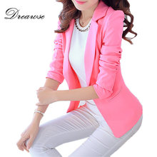 Dreawse New Women OL Self-cultivation Solid Color Female Long-sleeve Small Suit