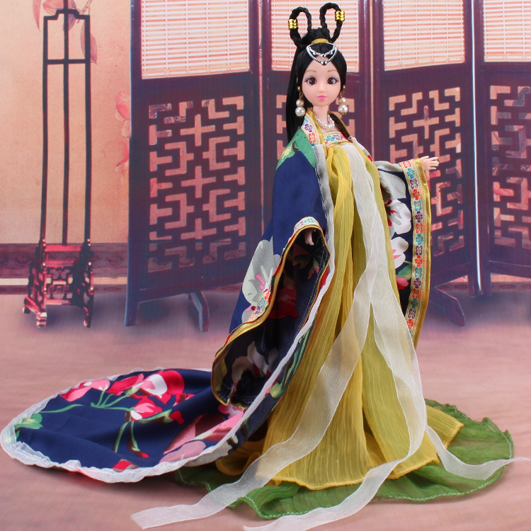 Pretty Fairy Doll Dress Chinese Ancient Costume for 30cm Doll Princess Baby Girl Doll Clothes Toys Accessories Birthday Gift