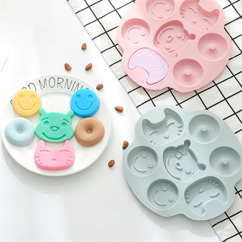 Silicone <font><b>Cat</b></font> Bear <font><b>Cake</b></font> Cupcake <font><b>Cup</b></font> <font><b>Cake</b></font> Tool Bakeware Baking Silicone Mold Cupcake and Muffin Cupcake image