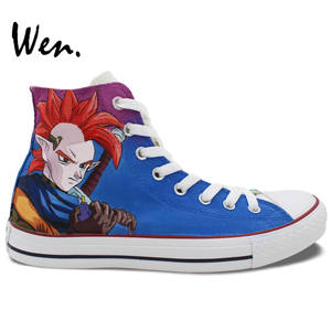 Wen Sneakers Anime-Shoes Dragon-Ball Custom Hand-Painted-Design High-Top Women's Canvas