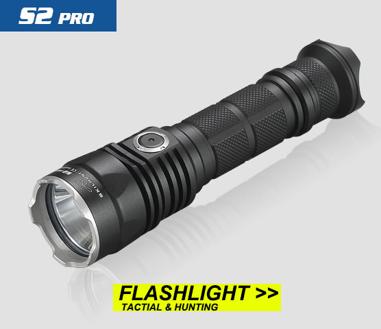 2017 New SKILHUNT S2 PRO CREE XP-L HD or HI LED USB rechargeable tactical 1250 Lumens / 1100 Lumens flashlight lumens