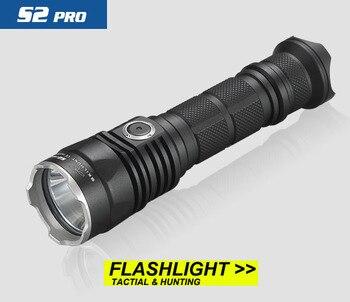 2017 nouveau SKILHUNT S2 PRO CREE XP-L HD ou salut LED USB rechargeable tactique 1250 Lumens/1100 Lumens lampe de poche
