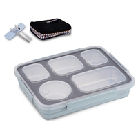 Lunch Box Set Thermal Bento Box With Tableware Eco Friendly Food Container Separate Compartments Leakproof Food Is Not Mixed|Lunch Boxes| |  -