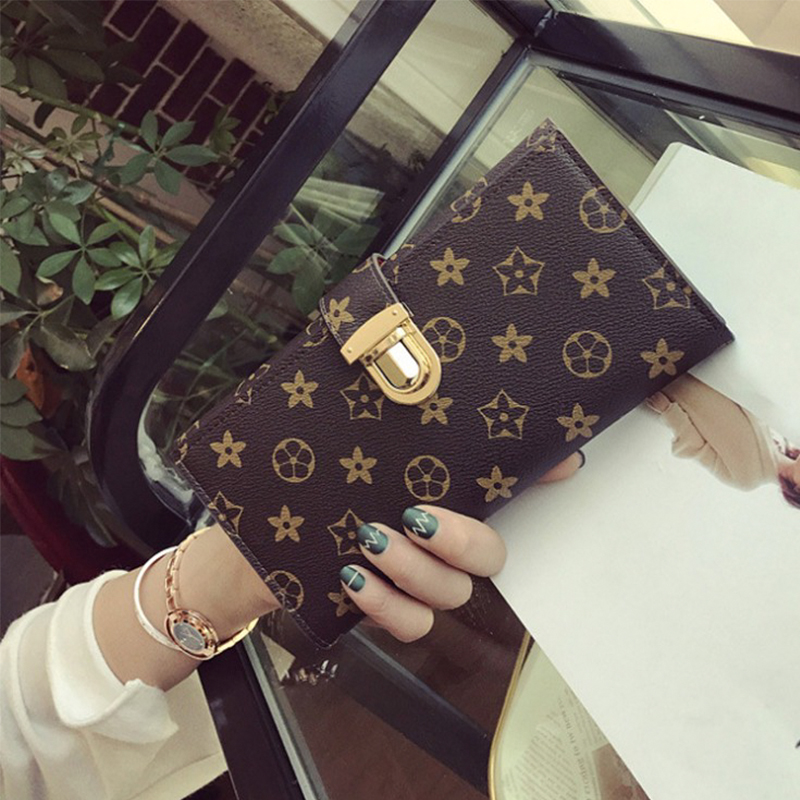 OMADNN High-quality PU Leather Women Wallet Long Purse Vintage Solid Multiple Cards Holder Clutch Fashion Zipper Coin Purse 2016 new fashion luxury vintage retro pu leather men long wallet coin purse clutch with zipper hasp for women cards phone holder