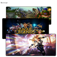 Mairuige Free Shipping Large Gaming LOL Mouse Pad Computer Games for League Of Legends Dota Gamer Size 400*900*3mm