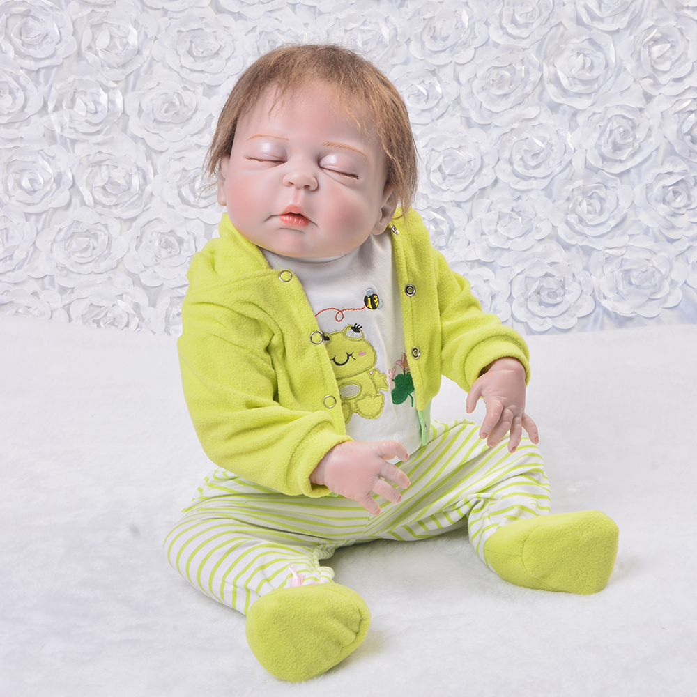 23/'/' Newborn Dolls Full Body Vinyl Silicone Reborn Baby Dolls Lifelike Gift