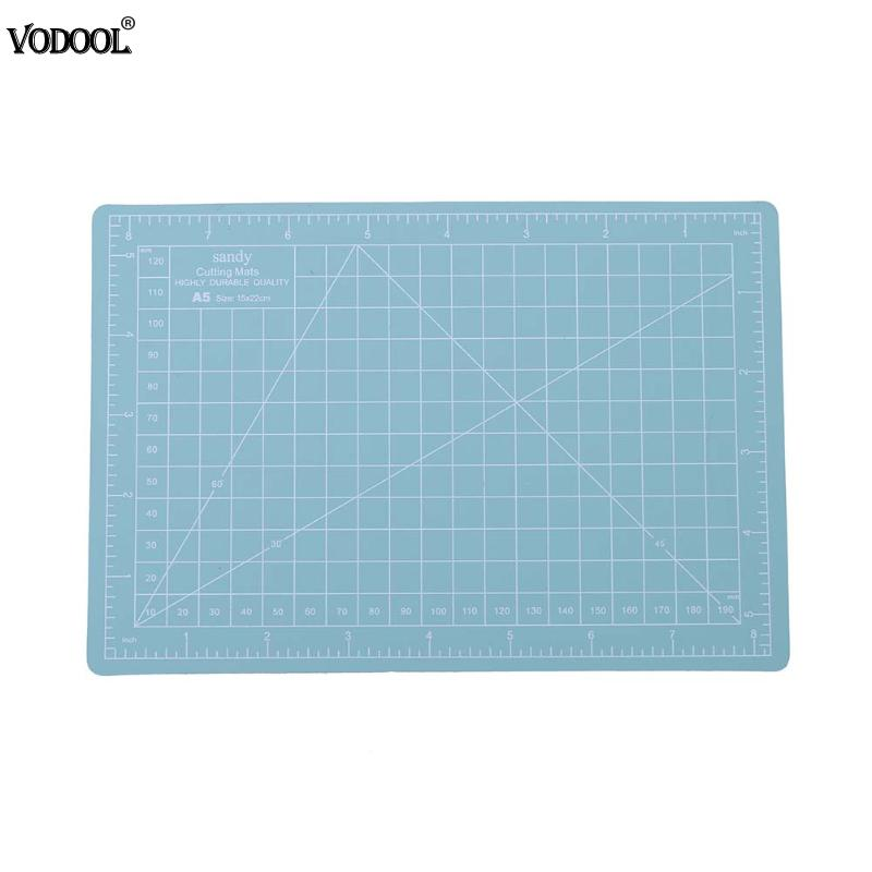 2018 New A5 Cutting Craft Mat PVC Office Home Paper DIY Tool Grid Lines Plastic Cut Pad Plate School Supplies Mint Green