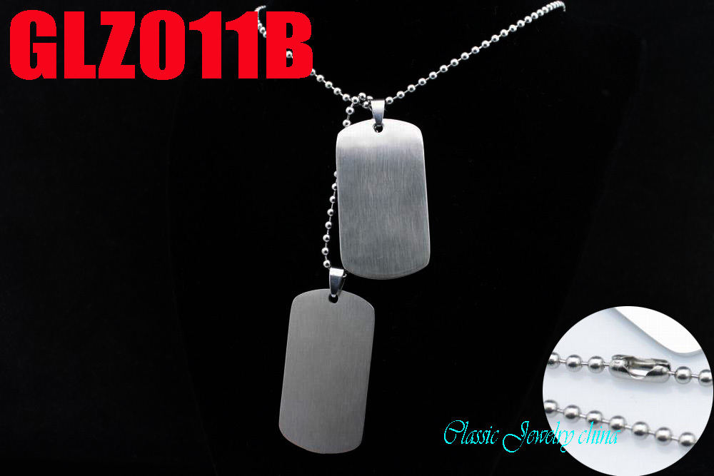 51mm satin face big size stainless steel pendant private tags pendants man male fashion jewelry 10 set GLZ011B
