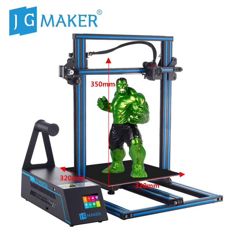 JGAURORA A5X 3d Printer Max Build Size with 2.8'' HD Touch Screen and BDG Heated Bed, Dual Z Axis Screw Rod 3d Printing Machine