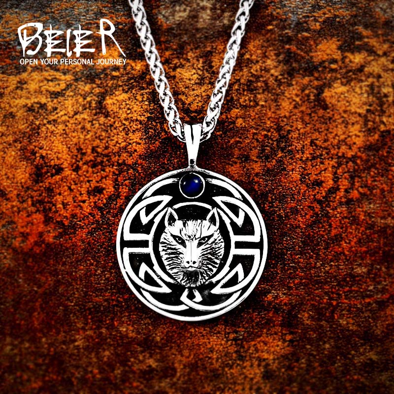 Jewelry & Accessories Necklaces & Pendants Beier 316l Stainless Steel Odin Axe Amulet Nose Viking Necklace Pendant Men Gift Fashion Pagan Jewelry High Quality Lp406