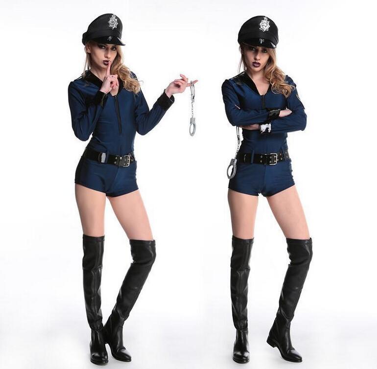 ⓪Sexy mujer policía traje carnaval fiesta Cosplay trajes de ...