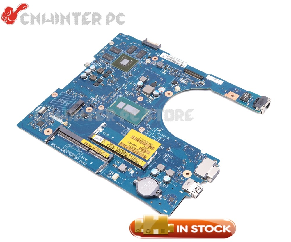 NOKOTION Laptop Motherboard For Dell inspiron 5458 5558 5758 CN-00MYD6 00MYD6 0MYD6 AAL10 LA-B843P SR1EF I5-4210U GeForce <font><b>920M</b></font> image