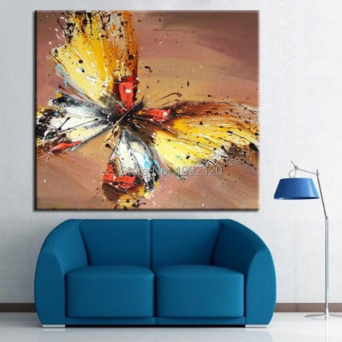 나비 유화 현대 벽화 홈 장식 예술 그림 캔버스 손으로 그린