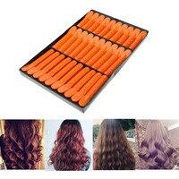 30Pcs Box Wave Fluffy Hair Root Folder Kit Hair Styling Perm Bar Rods Curler Clip Texture