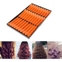 30Pcs Box Wave Fluffy Hair Root Folder Kit Hair Styling Perm Bar Rods Curler Clip Texture