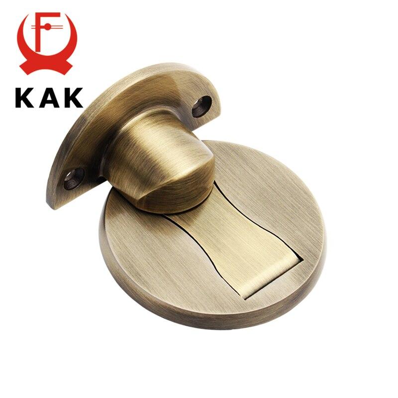 KAK 304 Stainless Steel Magnetic Door Stopper Sticker Hidden Door Holders Catch Floor Nail-free Doorstop Modern Door Hardware цена 2017