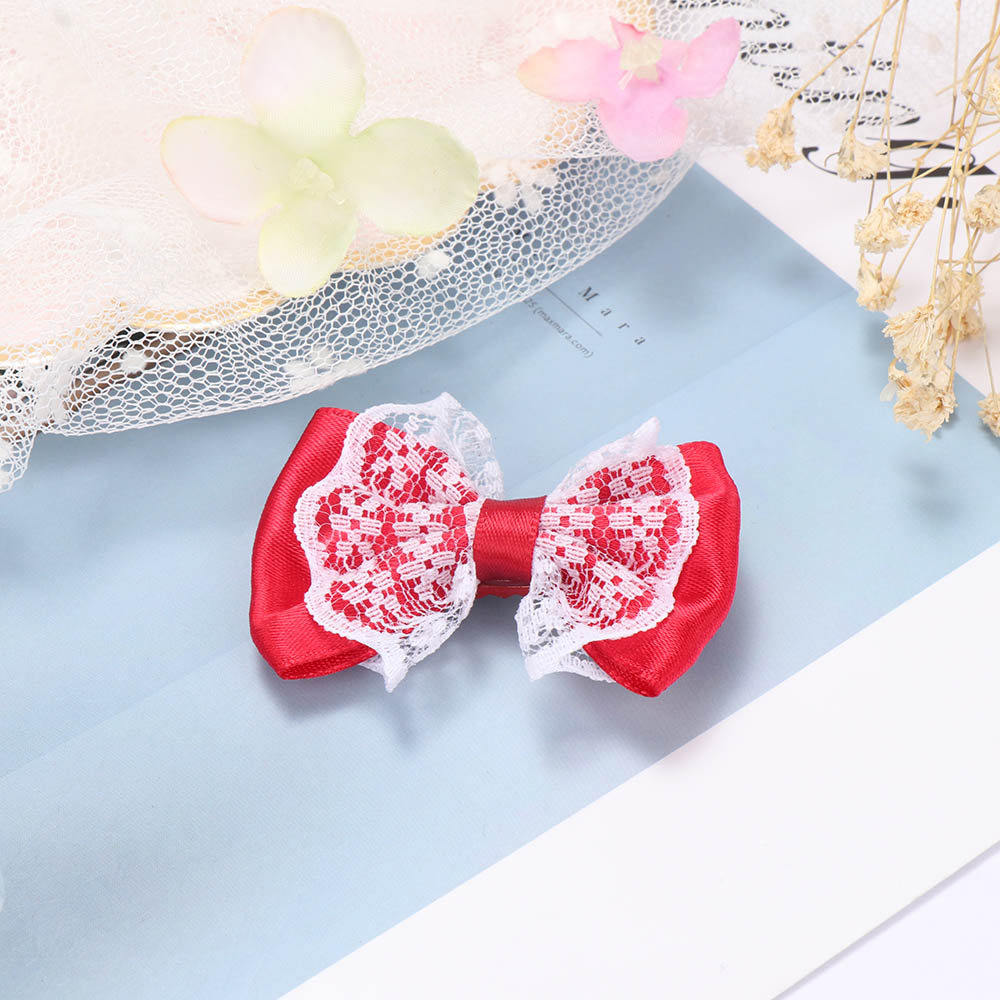 Cute Lace Bow Knot Hair Clips Fashion Colorful Hair Pins For Children Baby Girls Kids Hair Grips Hair Accessories Headdress