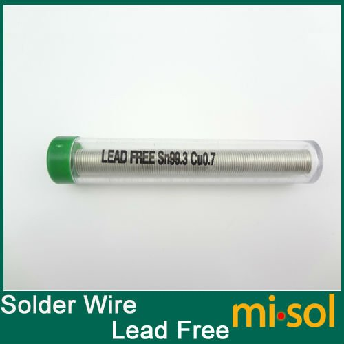 20PCS lot x New 1 0mm solder wire  lead free SN99 3 CU0 7 solder tin tube solder wire