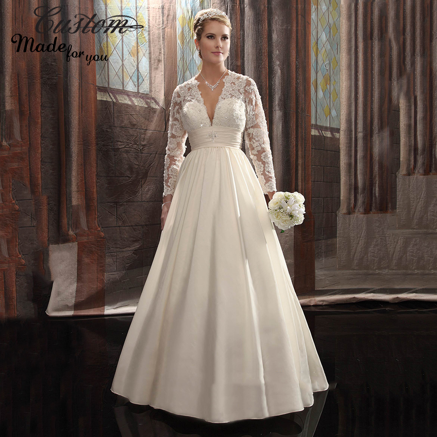 V Neck Lace Wedding Dresses: Country Western Vestido De Noiva Long Sleeve Bohemian Sexy