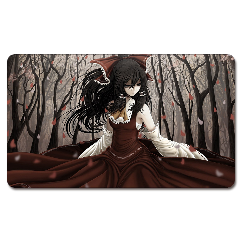 Aliexpress com buy girl black hair brown eyes playmat 525 custom anime board games sexy play mat card games custom big pad with free storage bag from