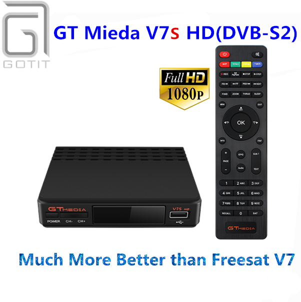 GOTiT GT Mieda V7S Satellite Receptor Receiver HD 1080P 3G Youtube CCcam Newcamd PowerVu Supported Set Top box
