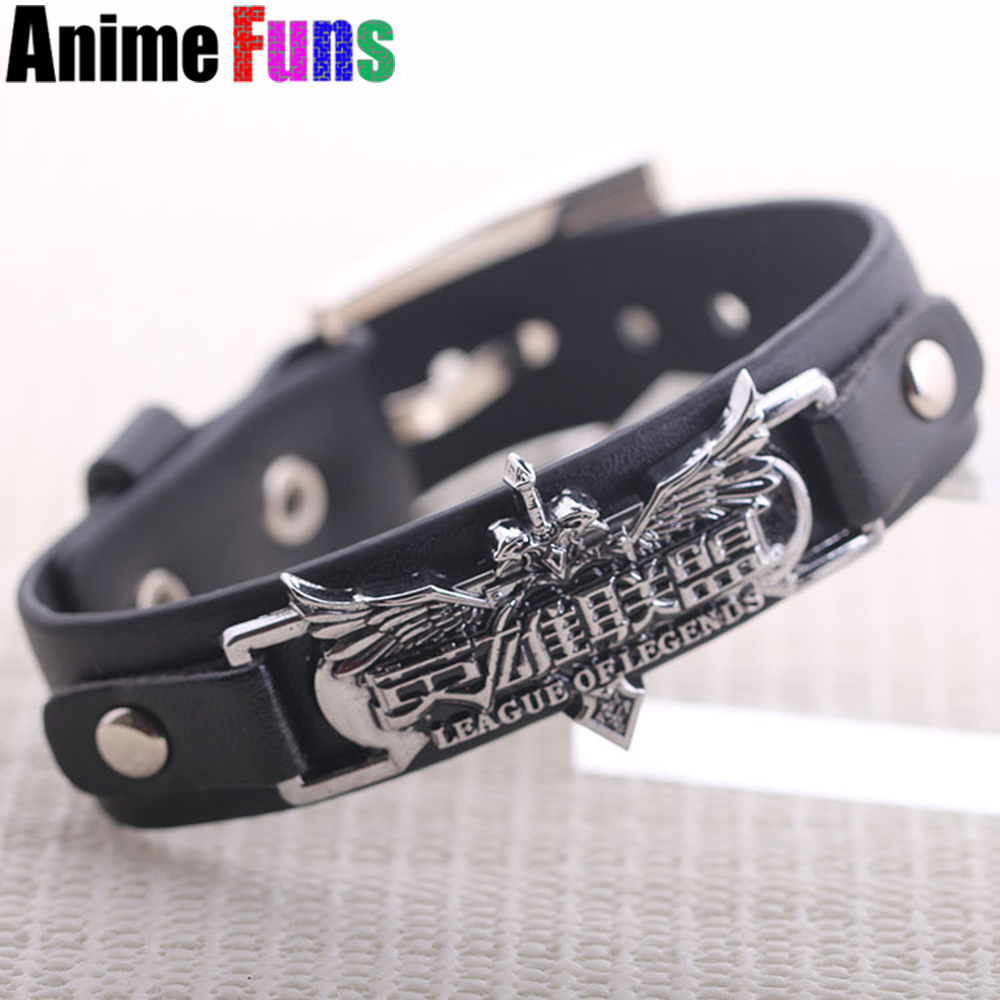 Game LOL Leather Bracelet League of Legends Logo bracelets & bangles wristband charm souvenir gift for women man drop-shipping Браслет