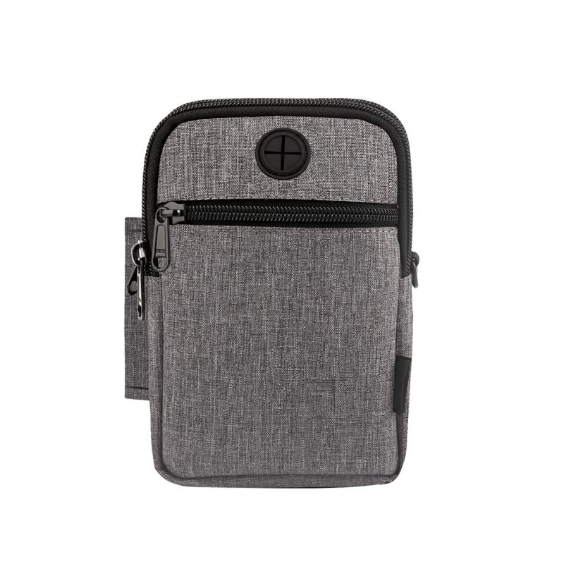 Fashion New 2019 3 Colors Men Fanny Pack Mobile Pouch Crossbody Bag For Smartphone Up To 6.3 Inch Nylon 12 X 17CM