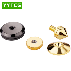 Image 3 - YYTCG 4 Sets  speakers Stand Feet Foot Pad Pure copper gold loudspeaker box Spikes Cone Floor Foot Nail M28*26
