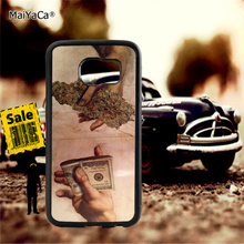 Drug dealer money weed soft edge phone cases for samsung s6 plus s7 s8 s9 note5 note8 note9 case
