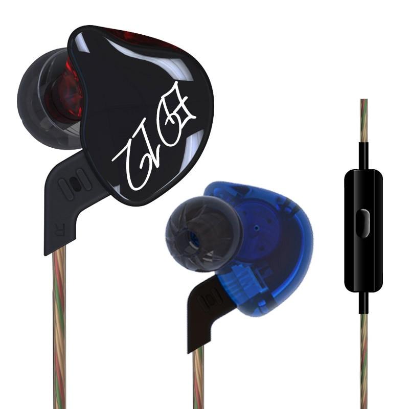 KZ ED12 Headphone Running Sport Earphone Noise Cancelling HIFI Bass Monito Earphone Headset In Ear Stereo audifonos For Phone