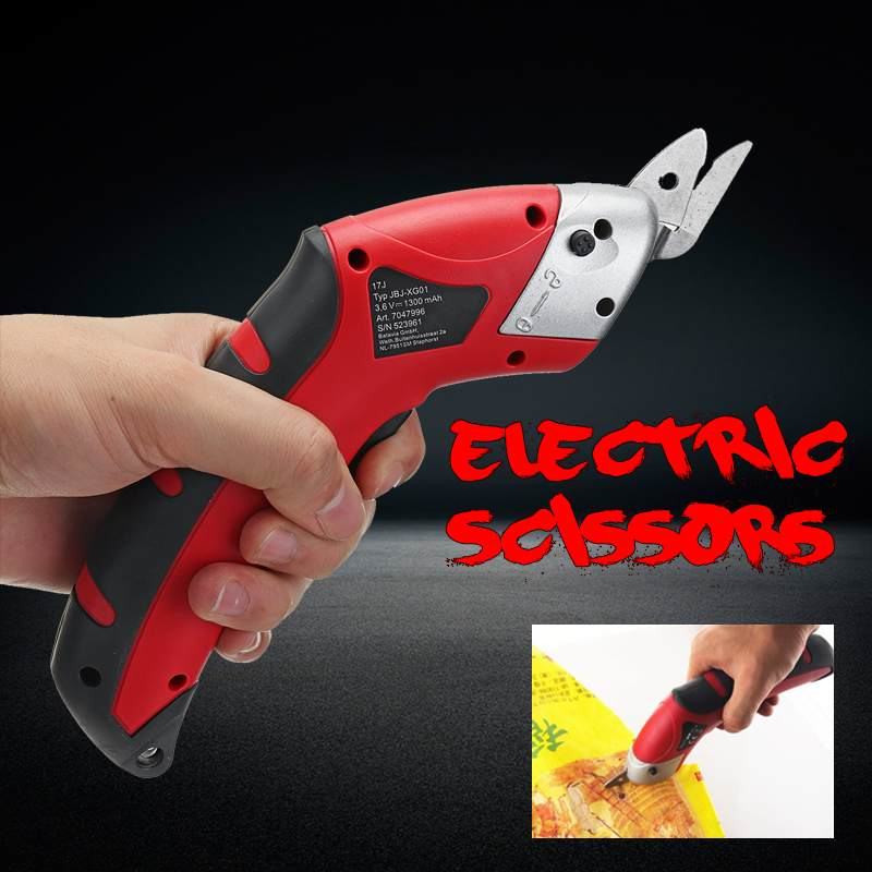 Ciseaux électriques rechargeables maison des tailleurs coupeur automatique sans fil tenu dans la main 2 lames pour la couture de tissu en cuir