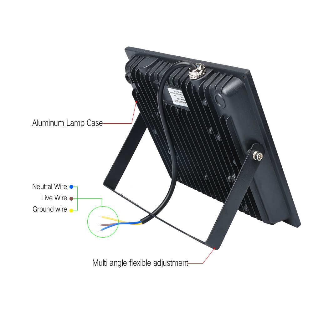 Refletor Led Flood Light 10W 20W 30W 50W 100W Waterproof Led Floodlights AC190V-265V Led Spotlight Outdoor For The Garden Light
