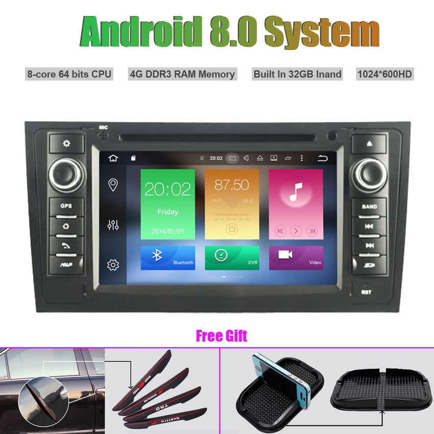 Octa Core Android 8.0 CAR DVD Player for AUDI A6 1997 2004,AUDI S6 1997 2007,AUDI RS6 1997 2004