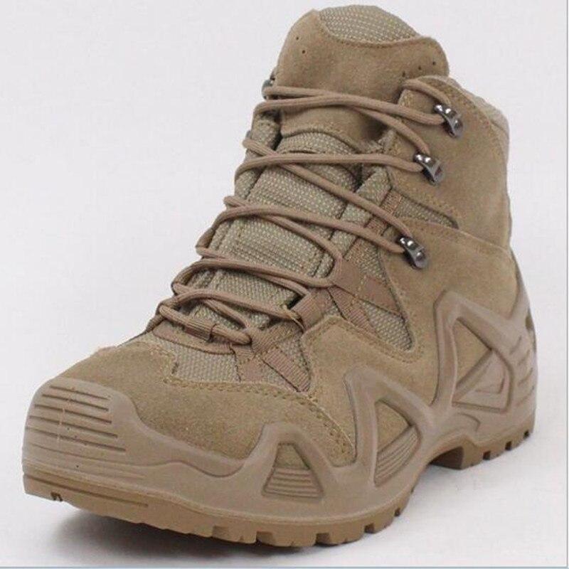 Les Fans de l'armée En Plein Air Mens Militaire Tactical Combat Désert Bottes Mâle Domaine Chasse Randonnée Escalade Formation Étanche Sport Chaussures
