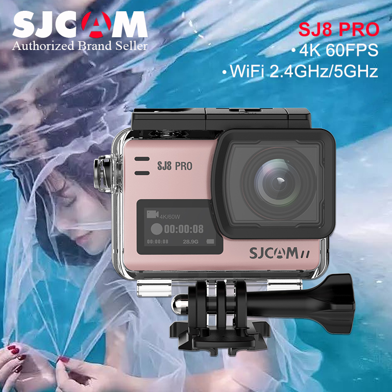 New ! SJCAM SJ8 Pro 4K/60fps Ultra HD Action Camera WiFi Remote Control Action Video Cam 8X Digital ZOOM Waterproof Sport Camera q3h action sport camera 4k ultra 1080p 60fps hd waterproof 30 wifi digital cam support self stick