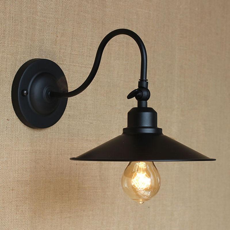 loft black edison art deco metal wall lamp for workroom bathroom bedroom foyer balcony vanity lights e27 black vanity lighting