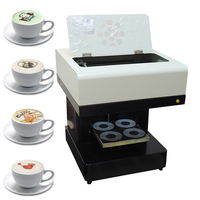 Coffee Printer 4 cup Automatic Cake Printer Chocolate Selfie Priter coffee Printing machine for Cappuccino Biscuits with Wifi