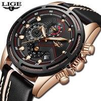 Для мужчин s часы Новый LIGE лучший бренд класса люкс Для Мужчин's Повседневное спортивные часы Для Мужчин Хронограф Дата Водонепроницаемый кв