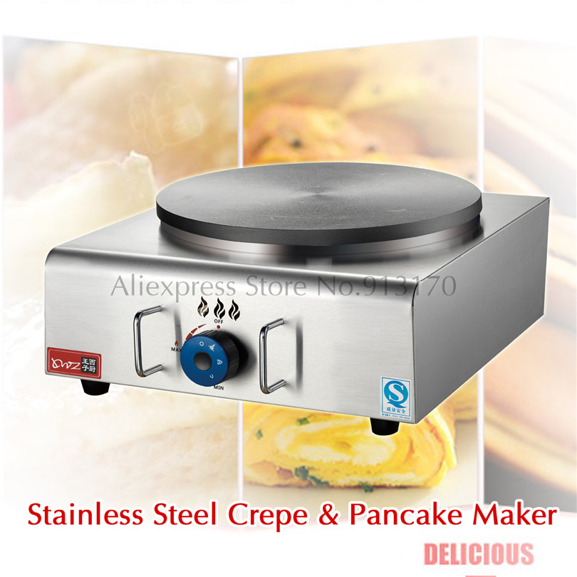 Gas Stainless Steel Pancake Crepe Maker Non Stick Plate Masala Dosa Griddle Blintzes Machine Grill Breakfast Nonstick Cook