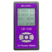 UV Power Meter Detector Handheld Glass Fabric Glasses UV Blocking Rate Solar Films UV Light Radiation