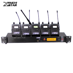SR2000 Professional Monitoring UHF Wireless In Ear Earphone Stage Monitor System One Transmitter With 5 Receiver Video Recording