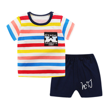 Summer cartoon toddler girls top+pant Set