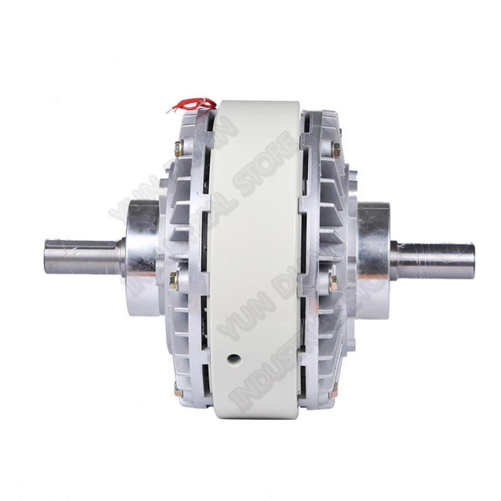 Double axe de 25Nm 2.5 kg DC 24 V Double frein magnétique d'enroulement d'embrayage de poudre de 2 axes pour la Machine de teinture d'impression de sac de contrôle de Tension