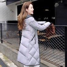 Мода Зима Женщины в длинный отрезок Тонкий Хлопок Ватник С Капюшоном Куртка Куртки И Пальто для женщин