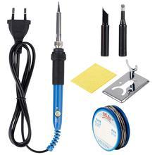 JCsolder 110 V 220 V 60 W Электрический паяльник 908 Регулируемая температура паяльник с качественным паяльником советы и комплекты