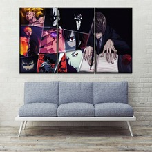 High Quality Canvas Print Hot Sel Animation Crossover Painting Modern Wall Artwork Home Decor One Set 3 Pcs Modular Style Poster