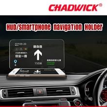 Carro pára brisas projetor hud cabeça up display universal titular do telefone móvel velocímetro projetor suporte de navegação chadwick h6