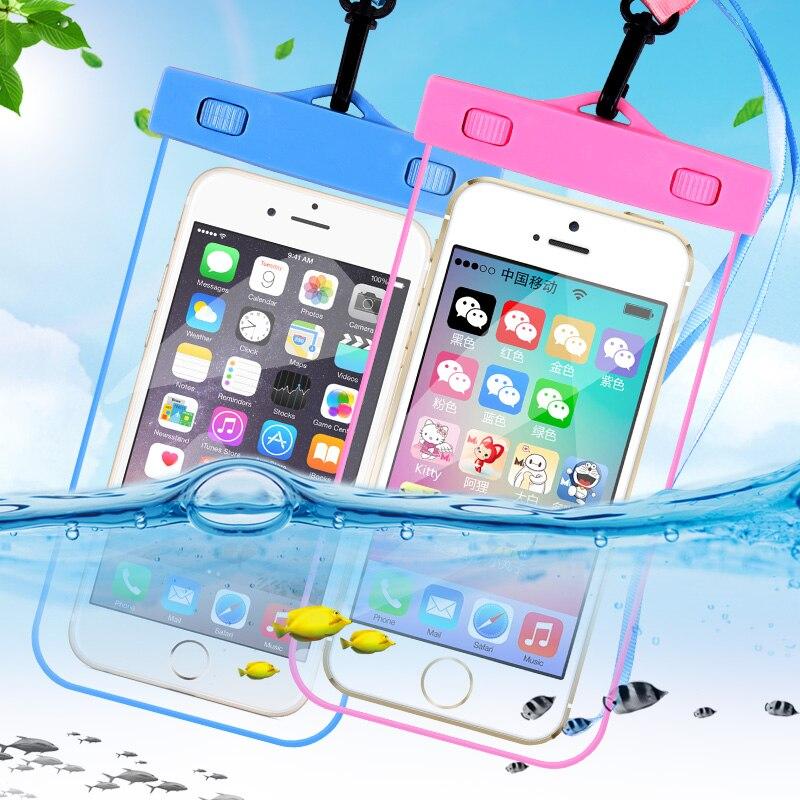Wuangsune Водонепроницаемый телефон Сумки чехол для iPhone 5, 6 S 7 7 Plus сухой Обложка Чехол для Xiaomi для samsung Galaxy S5 S6 S7 Edge